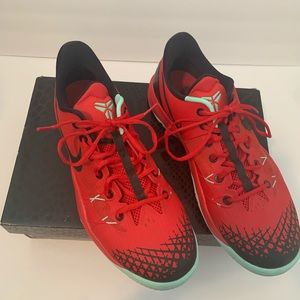 Men's red and mint green nike's